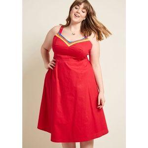 Modcloth 28 Verve Confirmed Cotton A-Line Dress